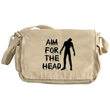 Aim For The Head Zombie Messenger Bag