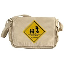 Mother Flippin' Yield Sign Messenger Bag
