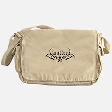 Knitter - skull pinstriping Messenger Bag