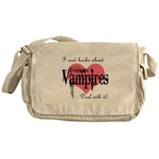 books about teenage Vampires Messenger Bag