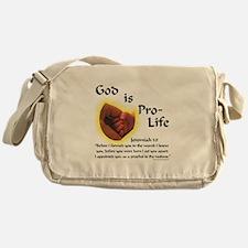 God is Pro-Life Messenger Bag