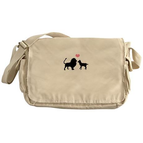 Lion Lamb <3 Messenger Bag