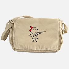 Girl & Flute Messenger Bag