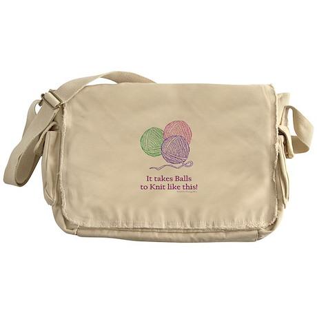 Balls to Knit Messenger Bag