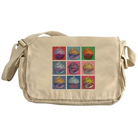 Lichtenstein Cupcakes Messenger Bag