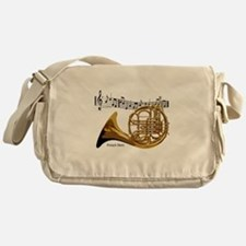 French Horn Music Messenger Bag
