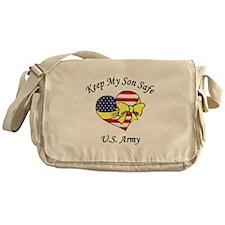 US Army Mom & Dad Keep My Son Safe Messenger Bag