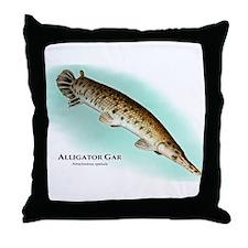 Alligator Gar Throw Pillow