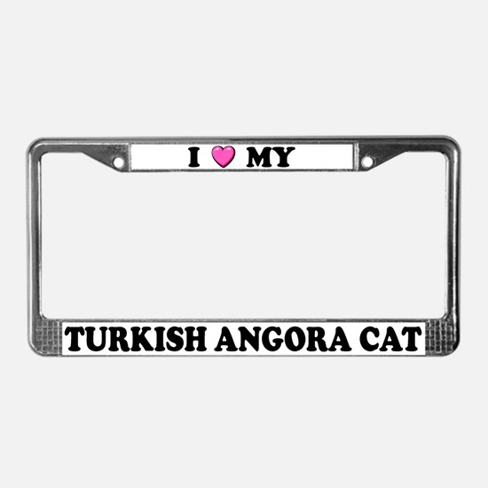 I Heart My Turkish Angora Cat License Plate Frame