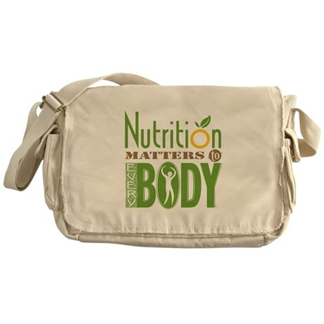 "Messenger Bag - Nutrition Matters To Every ""BODY"""
