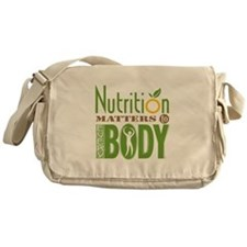 """Messenger Bag - Nutrition Matters To Every """"BODY"""""""
