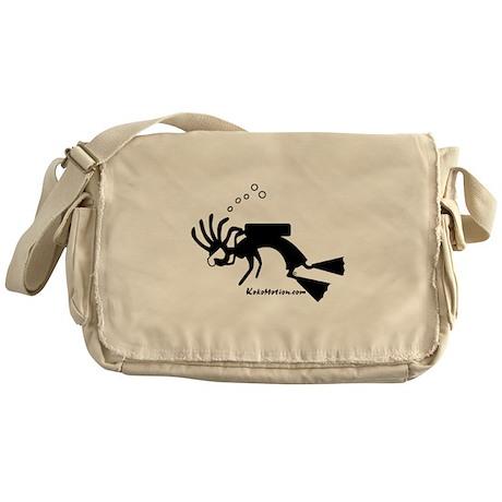 Kokopelli SCUBA Diver Messenger Bag