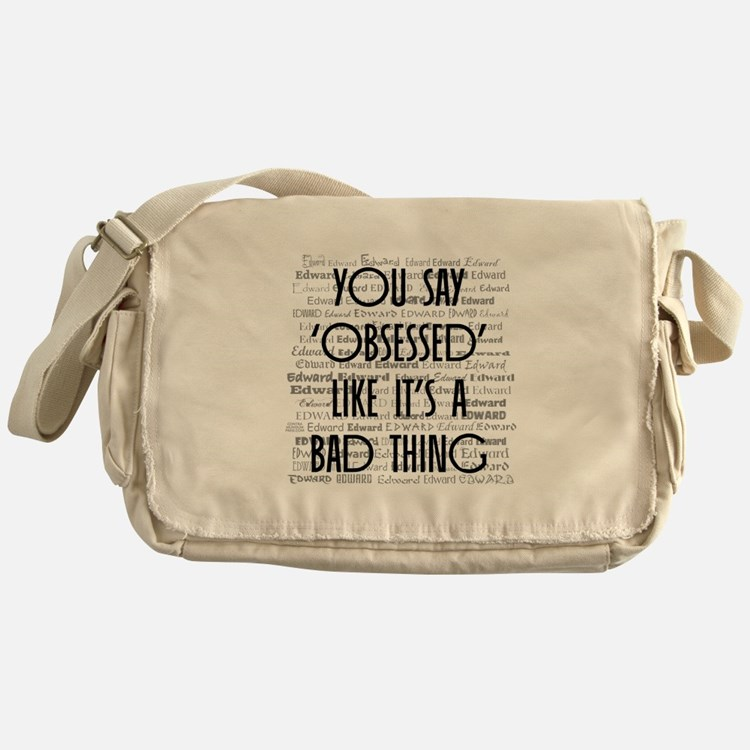 Obsessed with Edward Messenger Bag