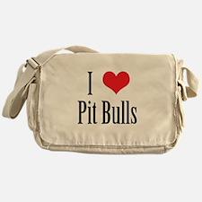 I Heart Pit Bulls* Messenger Bag