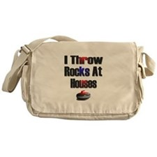 I Throw Rocks at Houses Messenger Bag
