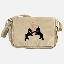 giant schnauzer hearts love i Messenger Bag