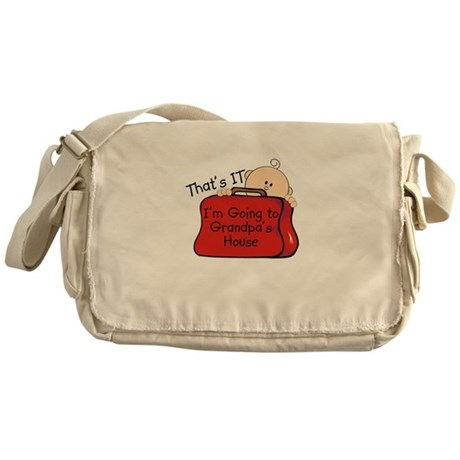 Going to Grandpa's Funny Messenger Bag