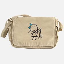 Girl & Bass Clarinet Messenger Bag