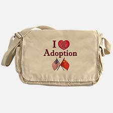 I Love Adoption (China/USA) Messenger Bag