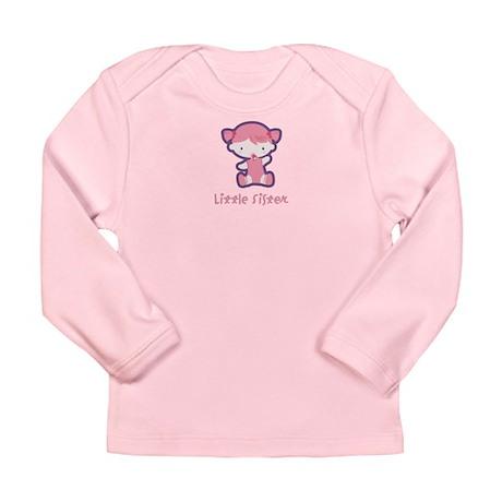 Lil Sis Sitting Long Sleeve Infant T-Shirt