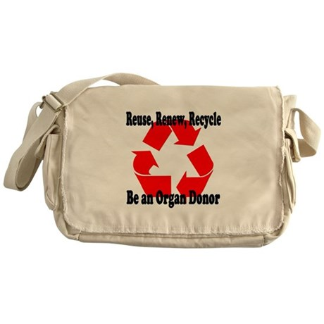 Reuse, Renew, Recycle Messenger Bag