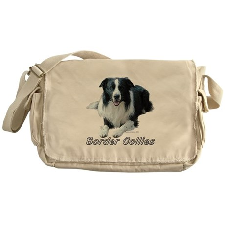 Classic Border Collie Lying Messenger Bag