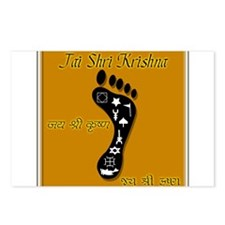 Krishna's Divine Foot - Jai S Postcards (Package o