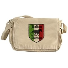 Italian by Marriage Vintage Messenger Bag