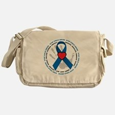 Stop Child Abuse Ribbon Messenger Bag