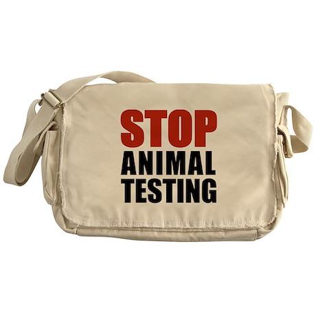 Stop Animal Testing Messenger Bag
