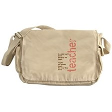 If a Child can't Learn (Pink/ Messenger Bag