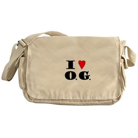 I Love O G Messenger Bag