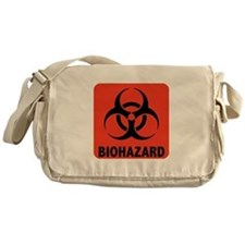 Biohazard Warning Symbol Messenger Bag