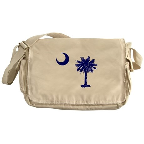 Palmetto and Crescent Messenger Bag