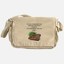 funny bacckgammon jokes Messenger Bag