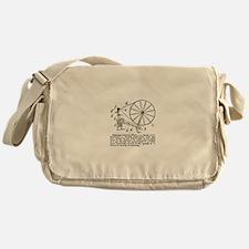 Yarn - Vintage Spinning Wheel Messenger Bag