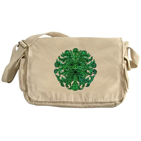 Green Man Gaze Messenger Bag