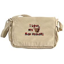Love Red Heeler Messenger Bag