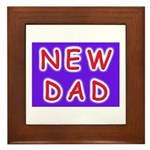 For new fathers, a NEW DAD Framed Tile