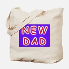 For new fathers, a NEW DAD Tote Bag