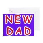 For new fathers, a NEW DAD Greeting Cards (Package