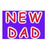 For new fathers, a NEW DAD Postcards (Package of 8