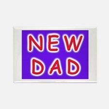 For new fathers, a NEW DAD Rectangle Magnet