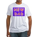 For new fathers, a NEW DAD Fitted T-Shirt