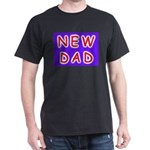 For new fathers, a NEW DAD Black T-Shirt