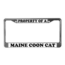 Property Of A Maine Coon Cat License Plate Frame