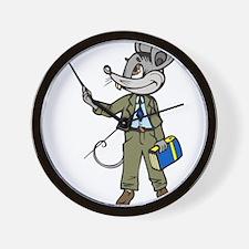 Mouse Teacher Wall Clock