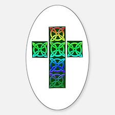 Glowing Celtic Cross Decal