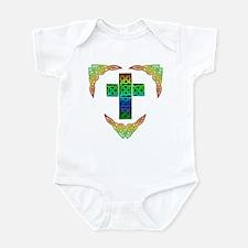 Glowing Celtic Cross Infant Bodysuit
