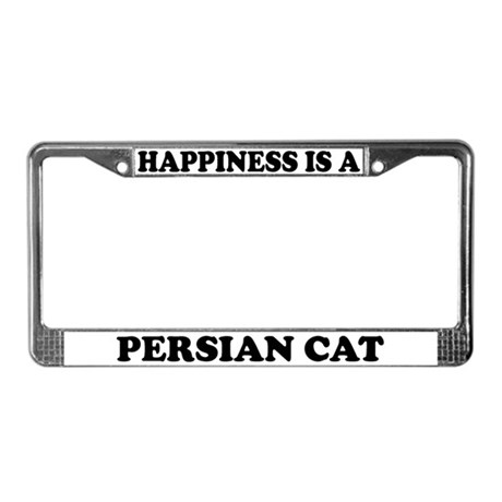 Happiness Is A Persian Cat License Plate Frame